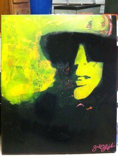 Gaga painting by Sarah Guajardo.