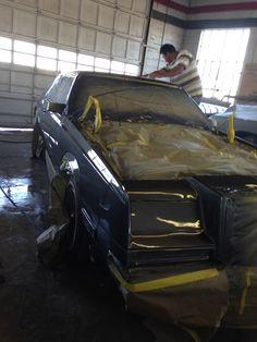 My 1982 Chrysler Imperial restoration project.  @ Betancourt's Collision / Restoration Center, Edinburg, Texas