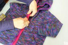 Tanis Fiber Arts, 4 Year Old Girl, Zipper Tutorial, Baby Boy Knitting Patterns, Hooded Cardigan, Art Tutorials, I'm Happy, Mom, Sewing