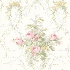 BHF 302-66804 Verdant Pink Floral Bouquet Wallpaper: Amazon.co.uk: DIY & Tools