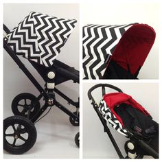 Red lined chevron  Replacement Canopy or Hood for by emasema