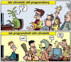 How users see programmers and how programmers see users