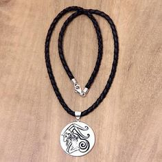Leather and bone pendant necklace, 'Virgo' - Artisan Crafted Leather Cord Pendant Star Jewelry, Pendant Jewelry, Jewelry Gifts, Pendant Necklace, Zodiac Jewelry, Necklace Sizes, Jewelry Packaging, Jewelry Trends, Jewellery Designs