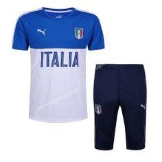 2016-17 Italy  Blue Short-Sleeved Sweater Uniform