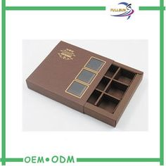 Luxury Brown Chocolate Gift Boxes Small Cardboard Chocolate Boxes With Window