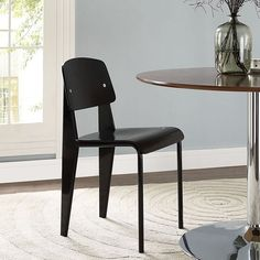 LexMod - Cabin Dining Side Chair in Black Black