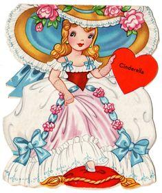 Beautiful Vintage Unused Story of Cinderella Diecut Valentine Greeting Card | eBay