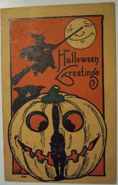 Vintage Halloween Postcard Bergman | Series 9101, Arist Bern… | Flickr