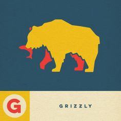 G - GRIZZLY  For those who have been asking, the Animals of the West alphabet book is almost finished. Hoping to print it in Dec or Jan. #WesternAlphabet #Grizzly #Design