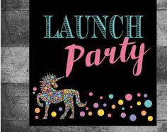 lularoe Launch party unicorn chalkboard sign