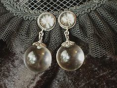 Antique Art Deco earrings pools of light silver filigree & 14k gold screw back   | eBay