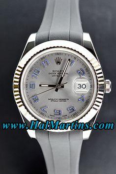 Rolex Datejust II 116334 with Grey Arabic Dial, $7,400.00. #rolexdatejustii #rolex116334 #mensfashion