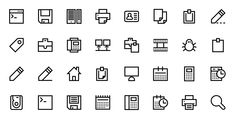 The Iconfinder Blog | 50 Icon Sets with Stroked Icons