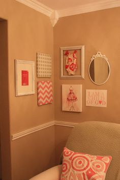 gallery wall for a baby girl's wall.