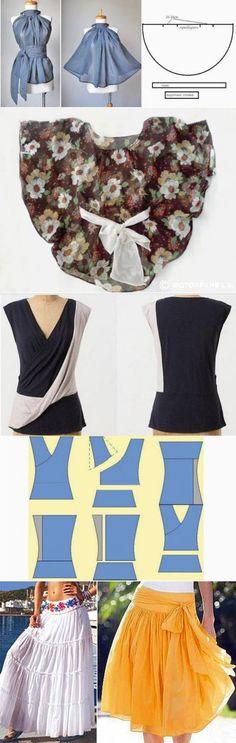Летние юбки и блузы с простыми выкройками — Рукоделие
