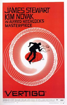 Saul Bass, film poster for Alfred Hitchcock's Vertigo, 1958.  The tradition of hand-drawn lettering goes back to the German expressionist films of the 1920s. These films were pioneers of the horror genre and created a film world of oblique angles and vertiginous perspectives. The lettering for these films rejected the curves and serifs of traditional typefaces for something altogether more edgy and visceral. Read more: guardian