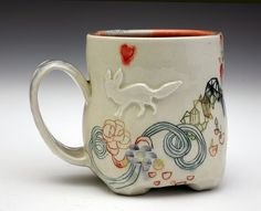 I love this mug, beyond all reason. It's like something from one of my dreams.  (whitefox2 by michelle.summers, via Flickr)