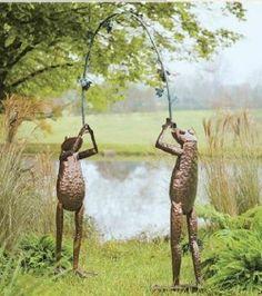 Handmade Hammered Metal Frog Archway Arbor Yard Garden Entrance Grape Vine