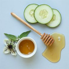Use cucumbers and honey to target wrinkles.