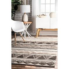 Cultivate a statement living room with the help of our Durden High Low Geometric Wool Area Rug. Its exotic fringe further enhances its tribal inspired patterns. Rugs In Living Room, Living Spaces, Rug Texture, 8x10 Area Rugs, Buy Rugs, Rugs Usa, Round Rugs, Contemporary Rugs, My New Room