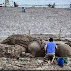 Sand art. Amazing.
