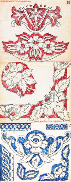 Схемы вышивки ришелье - из коллекции мой бабушки | Вышивка ришелье | Постила