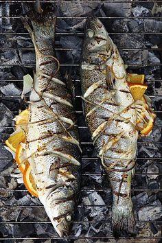 Whole Sea Bass with Orange Saffon Butter & Fennel [libelle]