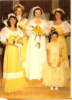 27 Weddings From the 80's.... But seriously, how and why did weddings go so wrong in this decade????