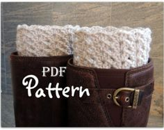 PDF CROCHET PATTERN - Make It Yourself:  Pattern for Lady Victoria Crochet Boot Cuffs, Boot Toppers, Digital Download, Lots of Photos