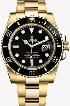 Gold watches : Gold watches men ROLEX SUBMARINER DATE