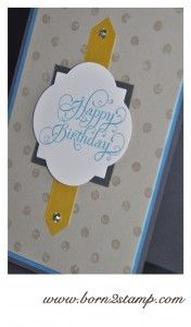Stampin UP! Distressed Dots, Beautiful Birthday