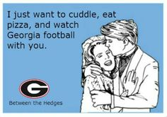 Georgia Bulldawgs! this is my every saturday conversation with jared :)))