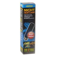 xo Terra Night Heat Lamp for reptiles simulates natural moonlight and is perfect for nocturnal viewing. Provides tropical night time temperatures. Stimulates breeding behavior in reptiles and amphibians.  Can be combined with Daytime Heat Lamp or Repti Glo for a 24-hour cycle.