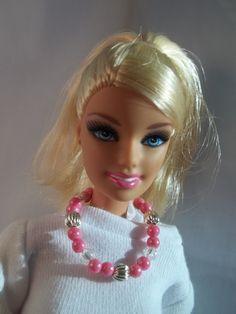 Barbie Doll Necklace  Barbie Jewelry  Pink by BarbieBoutiqueBasics, $2.00