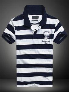 Camisa Polo blanca camisa de Polo de algodón Chic para hombres 443b47041f749