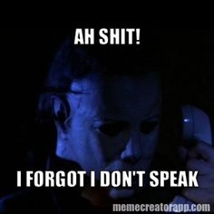 Michael Myers trying to use the phone