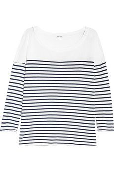 Splendid Striped cotton and modal-blend top | THE OUTNET