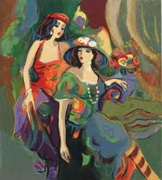 Isaac Maimon. Great painting for the Boho Cottage.