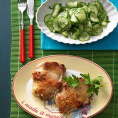 Cordon bleu mit Gurkensalat