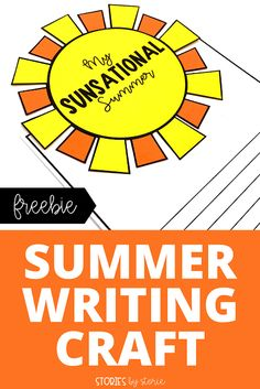 Are you ready for summer? To help you start this season off on the right foot, I want to share a summer writing craft. This sun craft can be paired with your favorite summer book or as a way to share a summer adventure or memory.