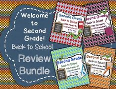 Welcome to Second Grade! Second Grade Beginning of the Year Review BUNDLE. This is a bundle of FOUR beginning-of-the-year reviews that cover every first grade Common Core Math Standard.