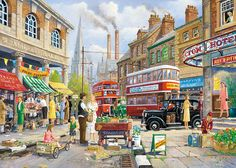 The Market Stall by Derek Roberts 1000 piece jigsaw puzzle Canada | CanadaPuzzles.ca