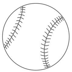 baseball craft printable | Below is the coloring page to print (just click on the Print button):