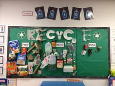 Recycling sort bulletin board