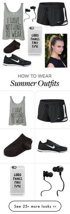 """""""Work out"""" by mil200111 on Polyvore featuring NIKE, Casetify, Monster and…"""