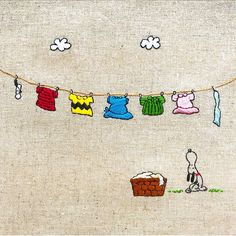 Peanuts laundry day