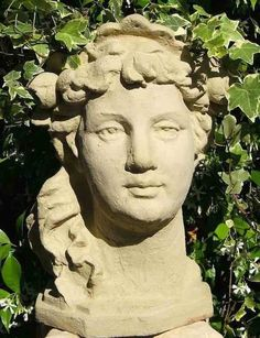 Lady Head Planter gives your favorite plants an unexpected, yet old world character. Another popular piece in the series of cast stone head planters, this Refined Lady Planter is original garden sculp