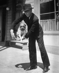 Humphrey Bogart & his dog