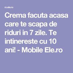 Crema facuta acasa care te scapa de riduri in 7 zile. Te intinereste cu 10 ani! - Mobile Ele.ro