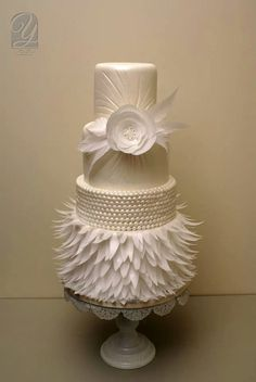 rice paper feather wedding cake 1000 images about wafer paper fondant cake on 19224